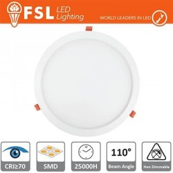 Downlight LED IP20 24W 3000K 1800LM 110° FORO:285mm