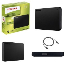 Toshiba HDD esterno 2,5'' 1 TB Nero USB 3.0 - retail box
