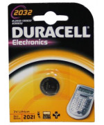 10 pile a bottone Duracell DL2032 1x 3v - litio 10 blister