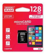 microSD 128GB CARD class 10 UHS I + adapter - retail blister