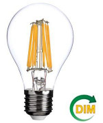 FSL A60 7W-650LM300º-60x102mm-2700K-E27AC220-240V DIMMABLE