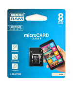 microSD card 8GB class 4 + adapter GoodRAM - retail blister
