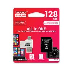 microSD 128GB CARD class 10 + adpter + card reader - blister