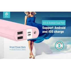 Devia Smart Power Bank 10.000mA con Spine iOS & Android Pink