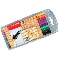 STABILO point 88 - fineliner 0,4 mm ASTUCCIO COLORI ASS 10pz
