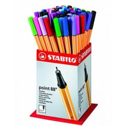 STABILO point 88 - fineliner 0,4 mm ESPOSITORE COL. ASS.60pz