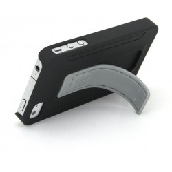 Black kick stand case for iphone 4/4s