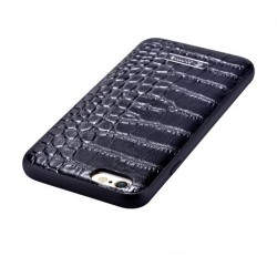 Custodia in Pelle trama coccodrillo iPhone 6S/6 Plus Nera