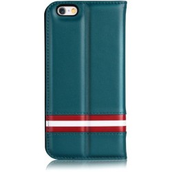 Cover a Libro in Pelle Italiana Bally iPhone 6/6S Plus Blu