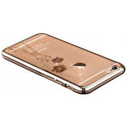 Custodia Swarovski per iPhone 6/6S Plus Crystal Cham. Gold