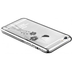 Custodia con Swarovski per iPhone 6/6S Plus Crystal Silver