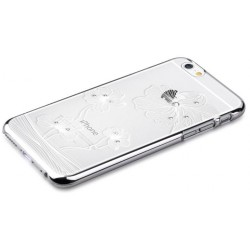 Custodia Swarovski per iPhone 6/6S Plus Crystal Flora Silver