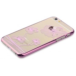 Custodia Swarovski per iPhone 6/6S Plus Crystal Flora Rose