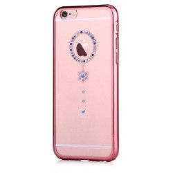 Cover Swarovski iPhone 6/6S Plus Crystal Camelia Blu RG