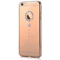 Cover Swarovski iPhone 6/6S Plus Crystal Camelia Blu G