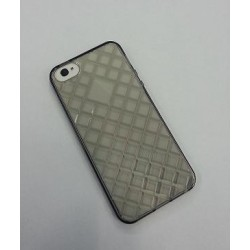 Cover in Silicone Iphone 5 motivo tridimensionale NERA