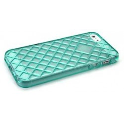 Cover in Silicone Iphone 5 motivo tridimensionale VERDE