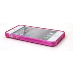Cover in Silicone Iphone 5 motivo tridimensionale FUCSIA