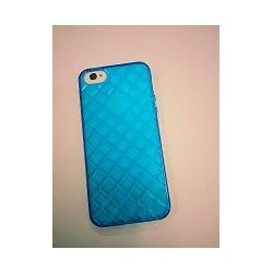 Cover in Silicone Iphone 5 motivo tridimensionale BLU