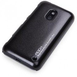 Cover Rock Naked Shell serie in Policarb per Lumia 620 Nero
