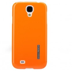 Cover Rock Ethereal shell in Policarb per Samsung S4 Arancio
