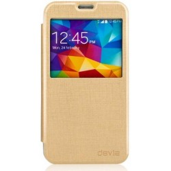 Cover Devia Talent Con Finestra per Samsung Galaxy S5 Oro