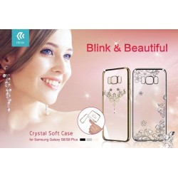 Cover Iris soft Crystals from Swarovski Samsung S8 Gun Black