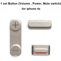 Set Pulsanti On/Off + Mute + Volume per Iphone 4-4S