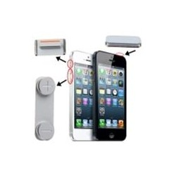 3 in 1 Pulsanti Power Mute Volume per iPhone 5 Bianco