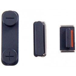 Set Pulsanti Power Mute Volume per iPhone 5S Nero