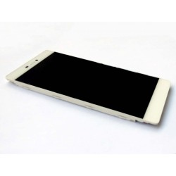 LCD + Touch ORIGINALE con Frame per Huawei P8 Bianco
