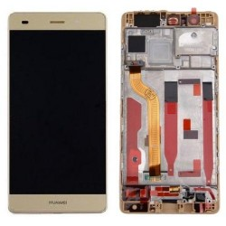 LCD + Touch Originale con Frame per Huawei P9 Gold