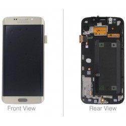 LCD + TOUCH ORIGINALE PER GALAXY S6 EDGE GOLD GH97-17162C